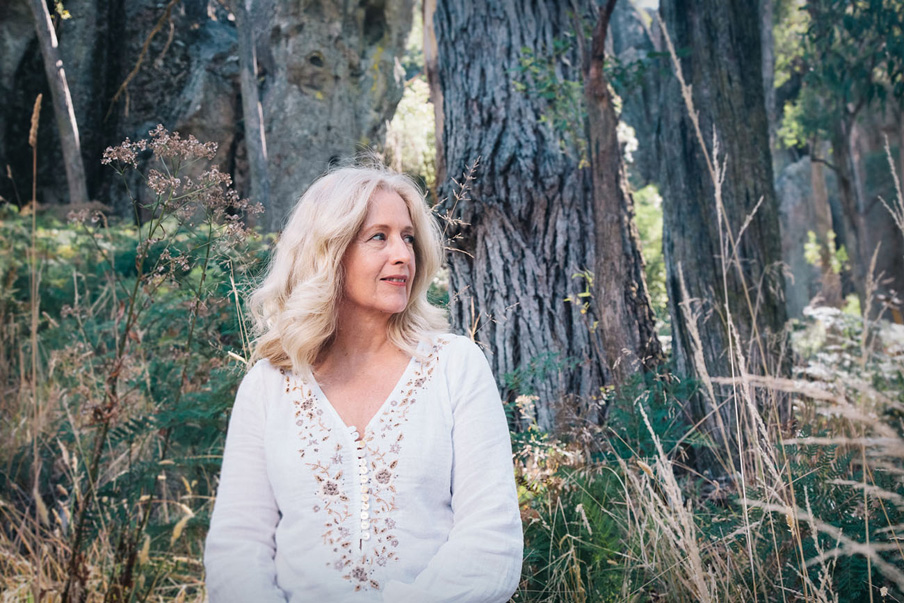 Anne Louise Lambert at Hanging Rock, photography by Sharon Blance, Melbourne Australia portrait photographer