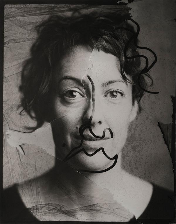 Sharon Blance, analog self-portrait 2019